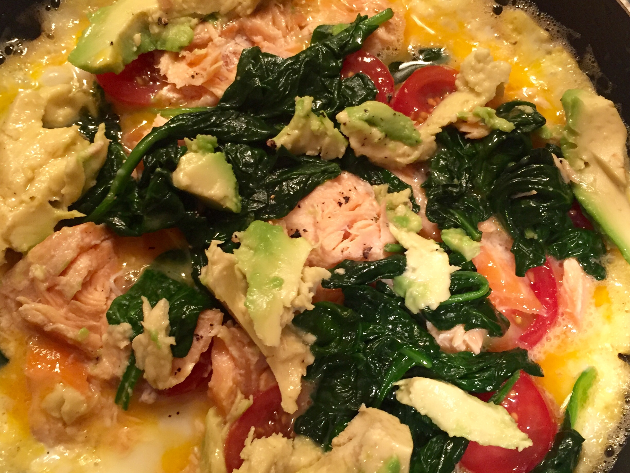 SALMON & SPINACH OMELETTE