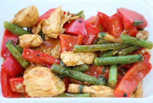 Chicken Green & Red Pepper