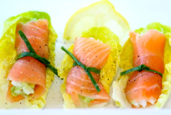 SMOKED SALMON & RICE LETTUCE PARCELS