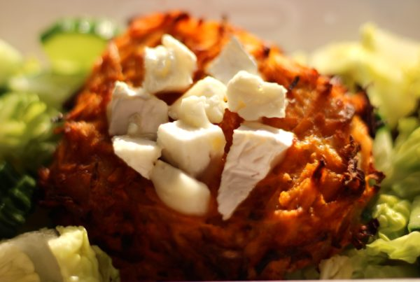 Sweet Potato & Goats Cheese Rosti