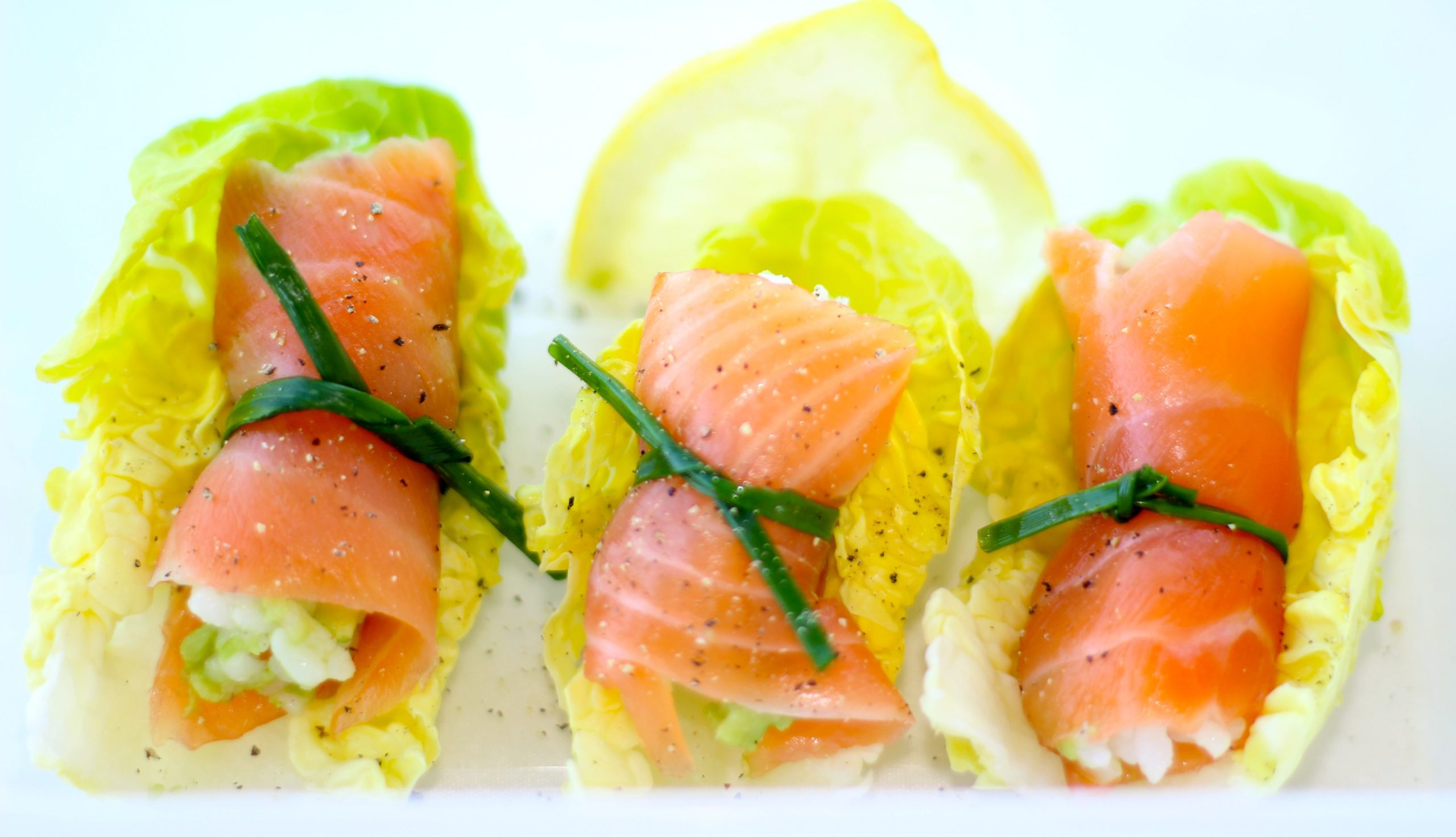 SMOKED SALMON RICE PARCELS